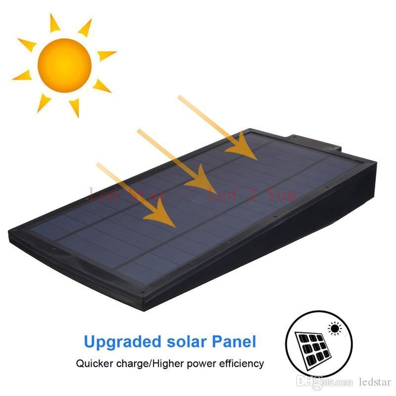 Nuevo 108 LED 2100LM Radar con energía solar Sensor de movimiento Lámpara de pared Lámpara de ahorro de energía a prueba de agua al aire libre Calle Yard Path Garden