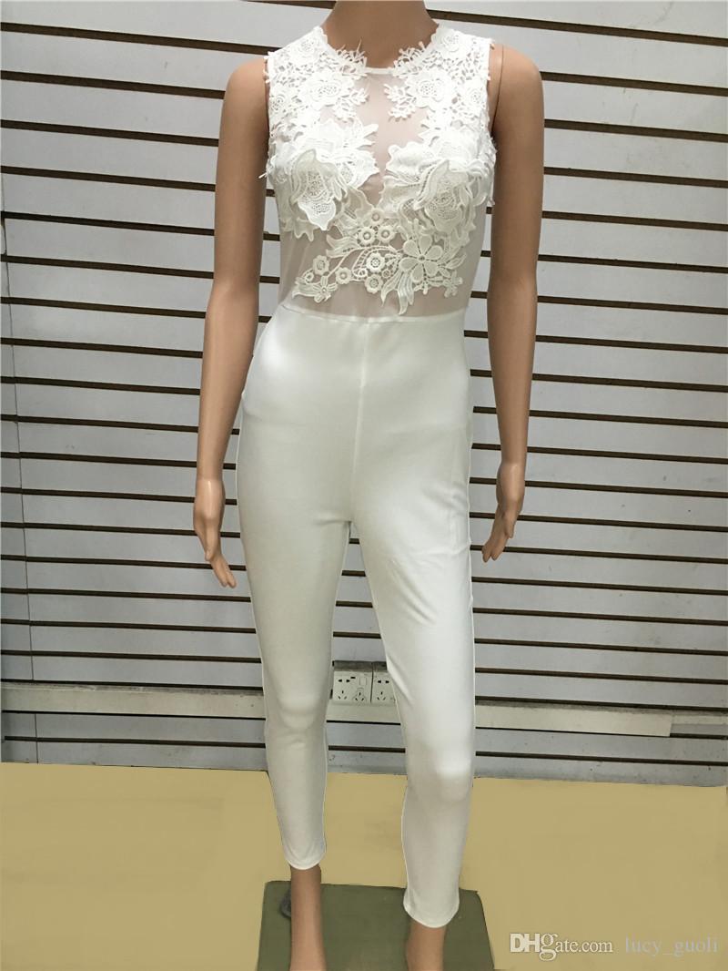 Speciale San Valentino Data Black Lace Body Donna Trasparente Mesh Ricamo 2016 Bodycon Pagliaccetti Pagliaccetti Club Wear combinaison femme