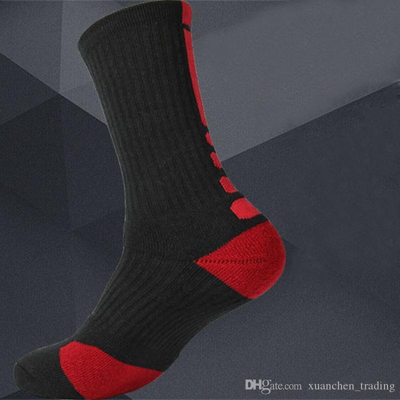 2017 Stylish Thicken Towel Men's Socks Sport Professional Basketball Elite Sock Basketball Sport Socks Cycling Bicycle Bike Socks