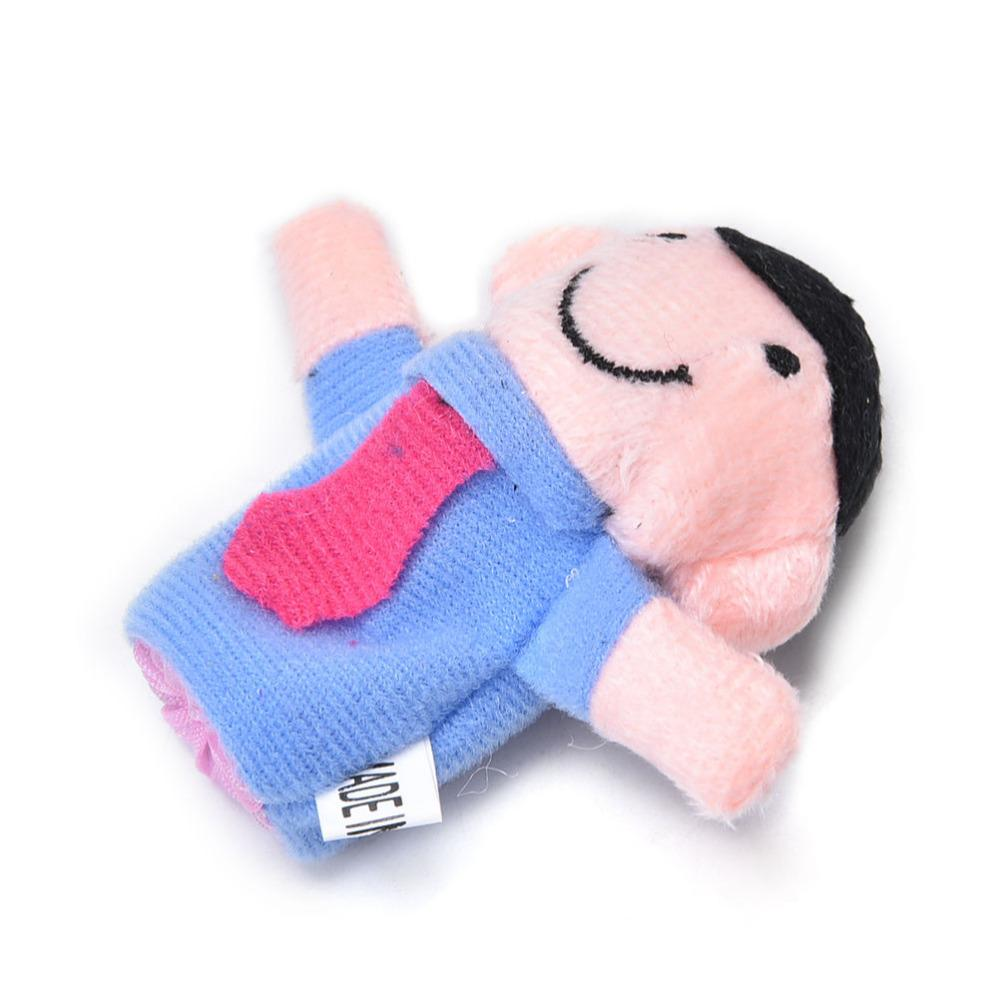 Family Finger Puppets Cloth Doll Baby Educational Hand Toy StoryCartoon Toys Kids
