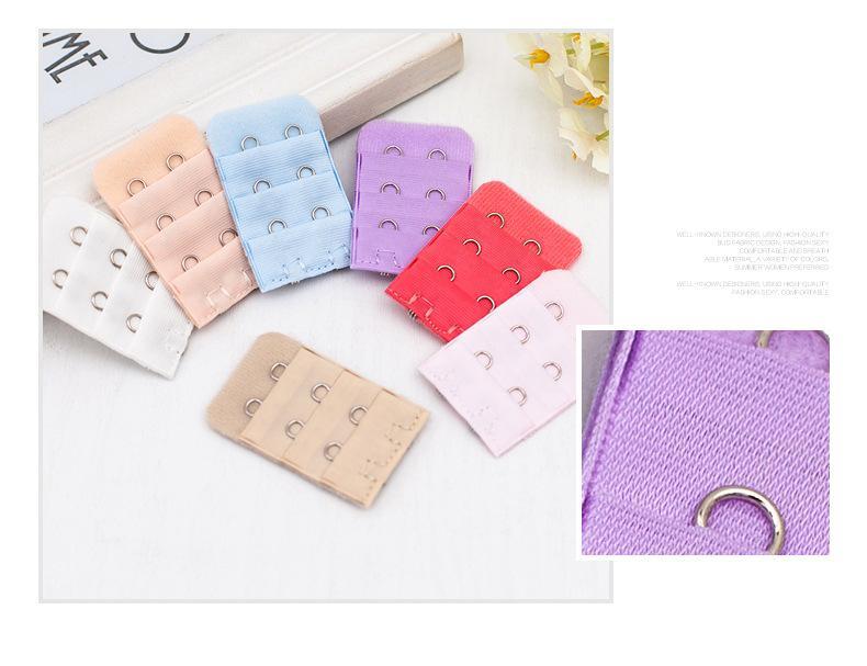 Dames sous-vêtements étendre la boucle Filles Soutien-gorge Crochets Sangle Long Extender Crochet Clip Nu Réglable Ceinture Mix Couleur