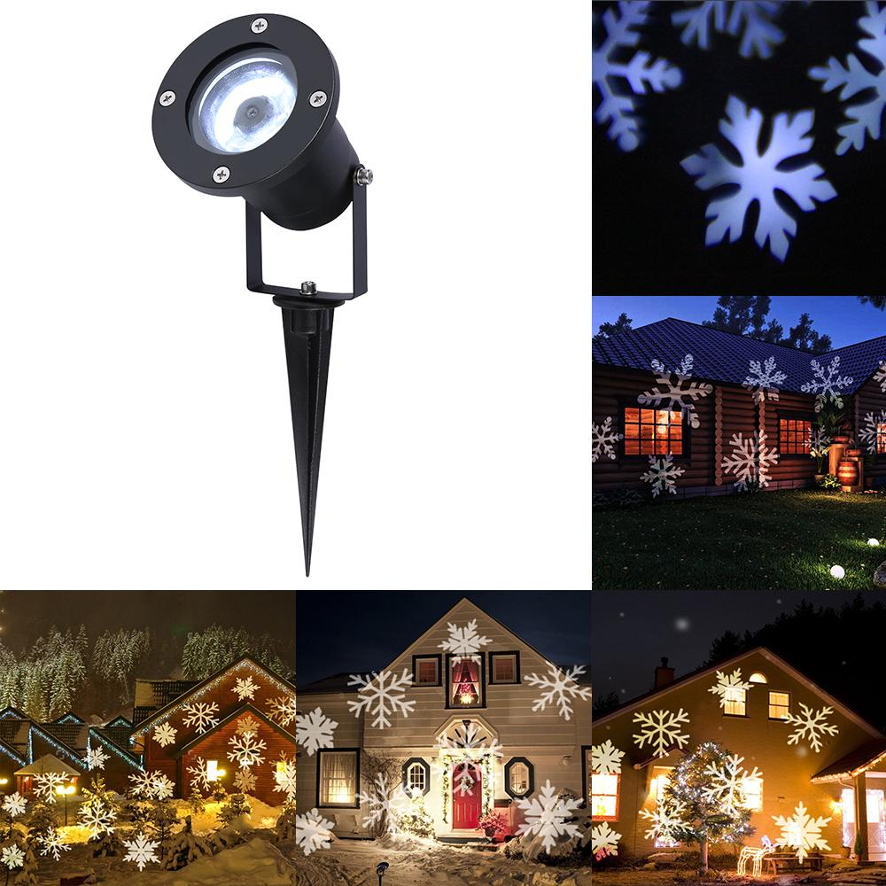 White Snowflake LED Stage Lights Waterproof Projector Lamps Outdoor ...