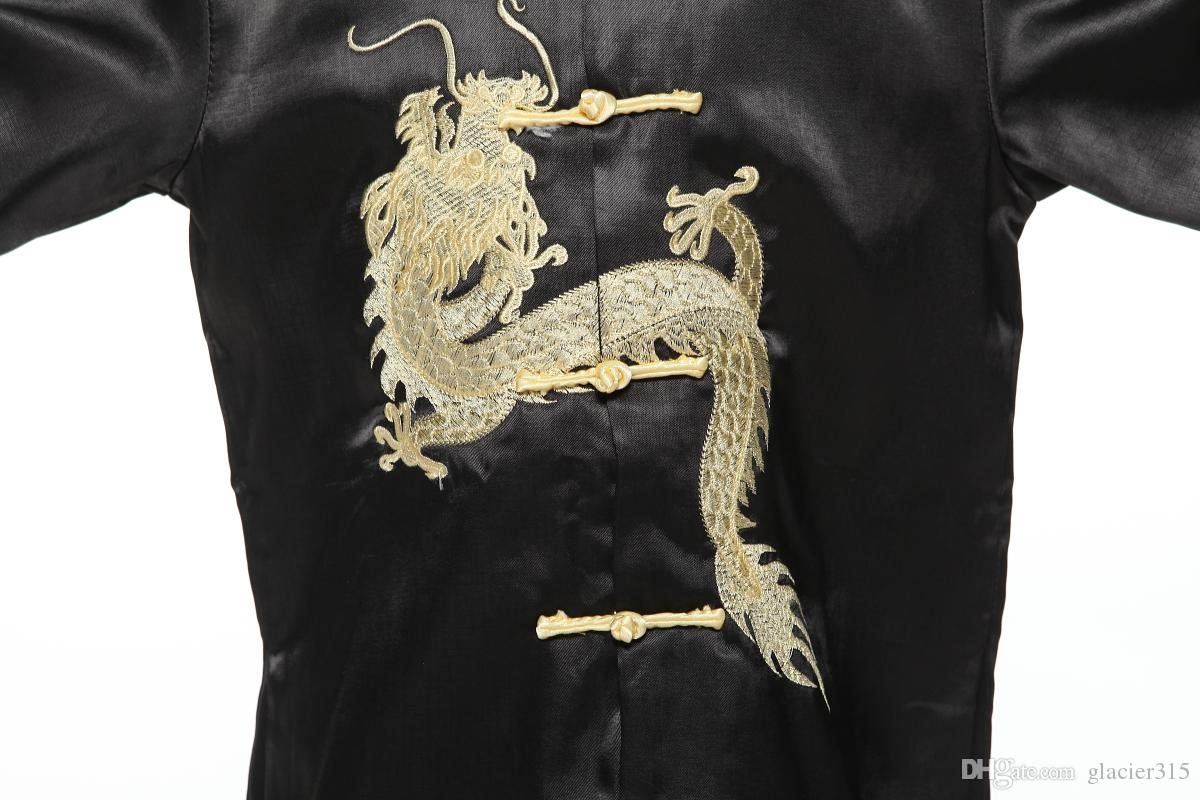 Shanghai Story Chinese traditional embroider dragon kungfu set for boy Chinese style boys kung fu suit sets baby boy birthday party clothing