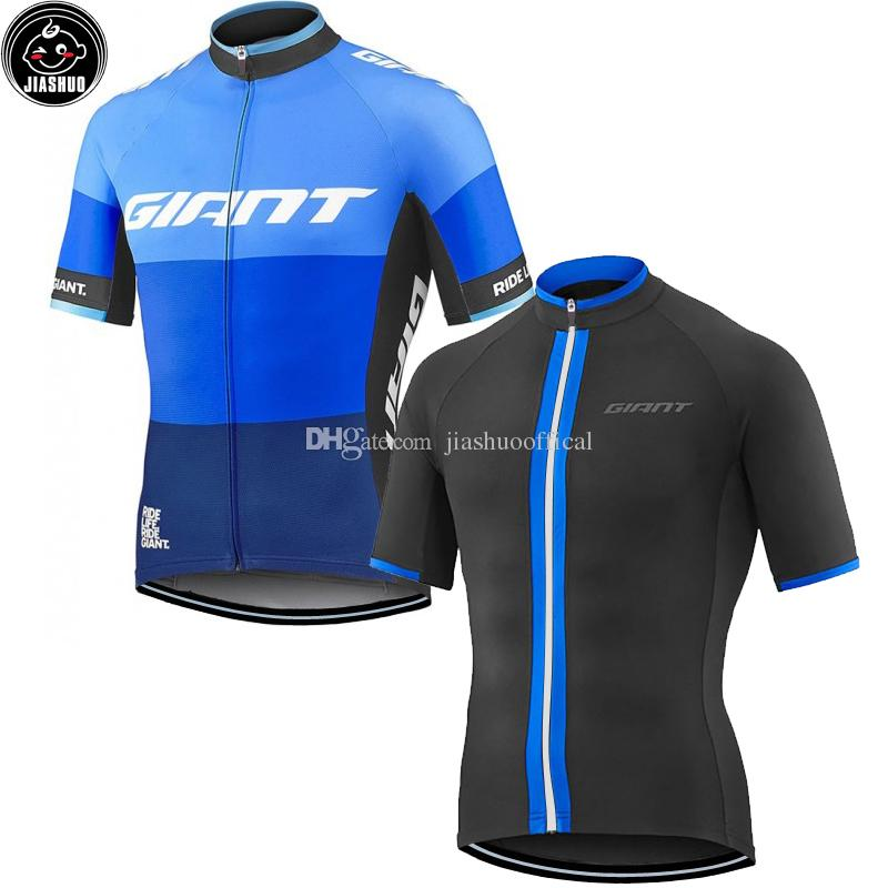 Classical Giant Blue   Black NEW Mtb Road RACE Team Bike Pro Cycling Jersey    Shirts   Tops Clothing Breathing Air JIASHUO Retro Cycling Jerseys Online  ... eadf3a1f8