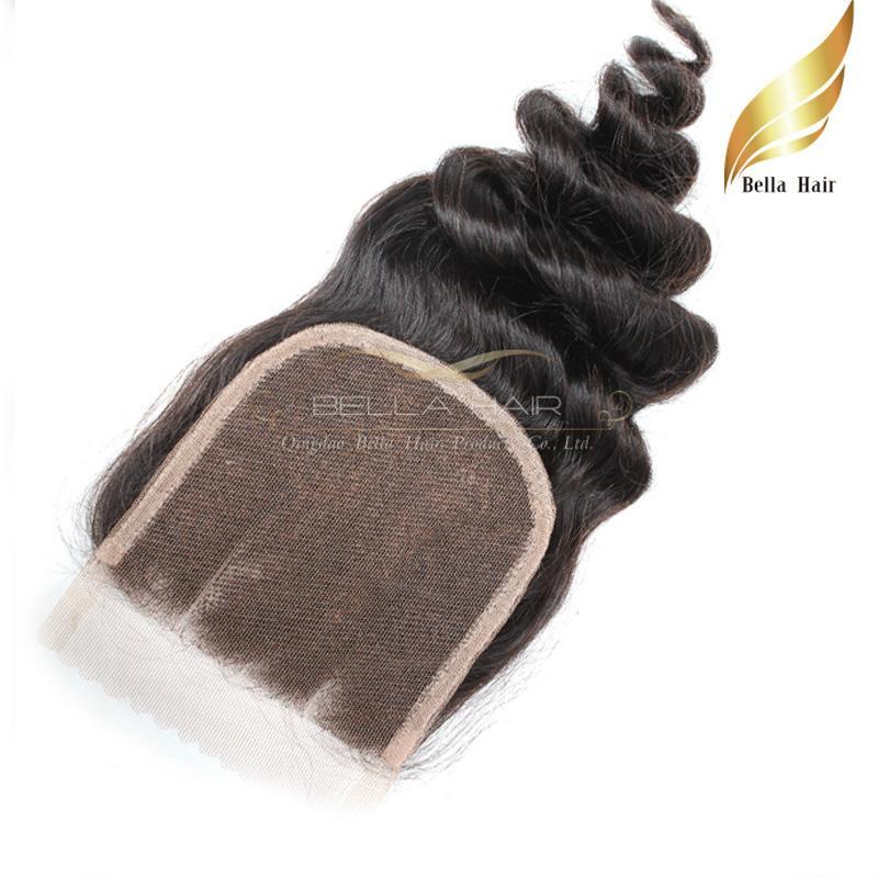 Malezyjski Koronkowy Zamknięcie Luźna Fala Human Dziewiczy Włosy Zamknięcie 3 Część Falisty Włosy Rozszerzenie 4x4 Naturalny kolor 8-26 cali