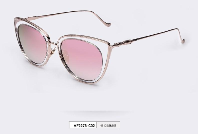 0ce2441566 Gold Frame Fashion Sunglasses Women Men Summer Vintage Holiday Cat ...