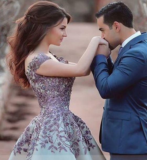 Charmante appliques pourpre courts robes de cocktail chic chic chéri une ligne de soirée robes chaudes vente de robes de bal mignonnes pour adolescents