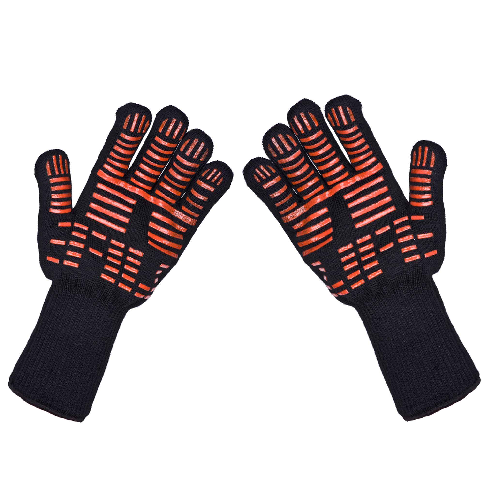 Extreme Heat Resistant Kitchen Barbecue Thick Silicon Oven Gloves ...