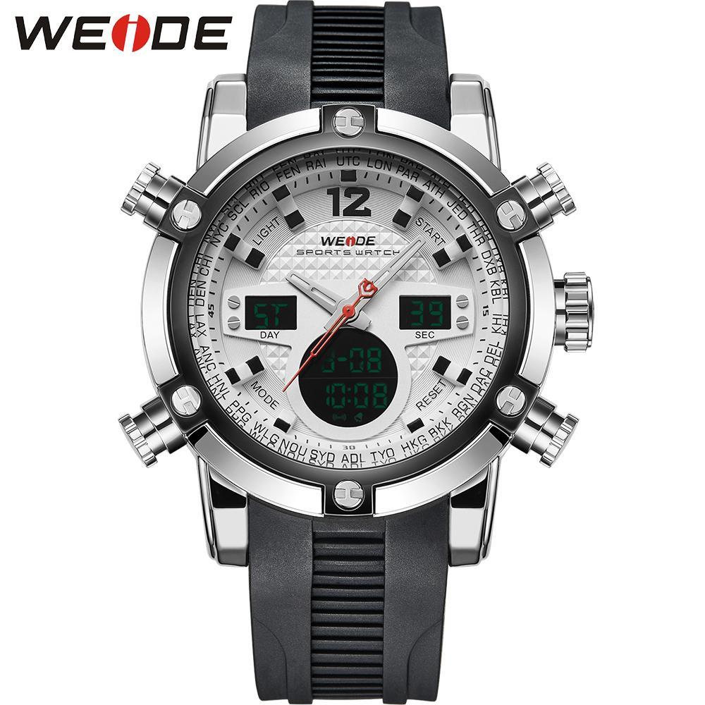 6b313f706893 Compre Weide Multifunción Deportivo Reloj Digital Impermeable 3atm Hombres  De Movimiento De Cuarzo Analog Digital Fecha De La Alarma Hombres Militares  ...
