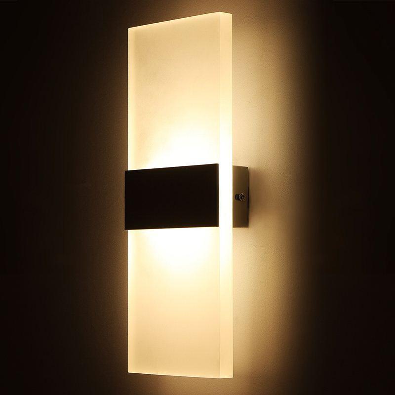 Acheter Lumiere Moderne Mur Conduit Pour Lampe De Salon Chambre Cuisine Living Restaurant Led Salle Bain Interieur Monte Lampes 1836 Du Qq Dh