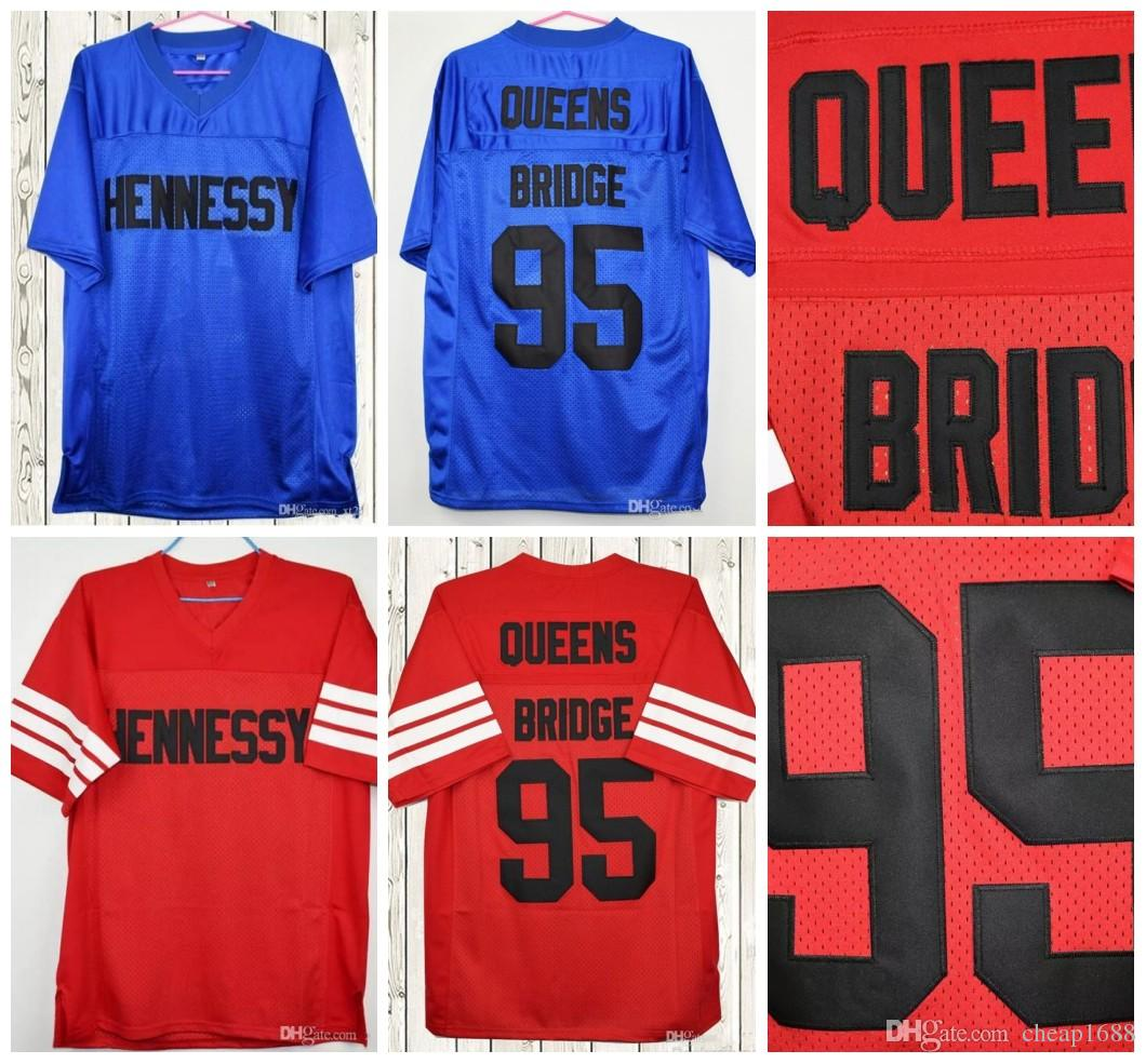 9932a09ea02 2019 The Prodigy 95 Hennessy Queens Bridge Movie Jerseys Stitched Red Blue  Cheap Mens Football Jersey Size S 3XL From Cheap1688, $28.43   DHgate.Com