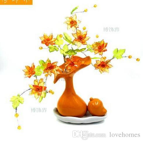 Modern Lucky Nangua 5 Shapes Ceramic Vase for Home Decor Tabletop this pirce is for a set vase and flowers together