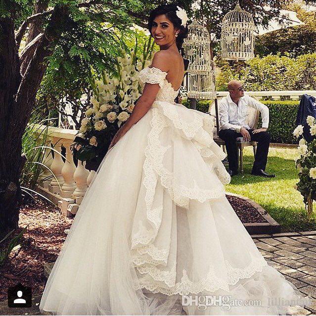Фактическое изображение на арабском Свадебные платья 2019 Съемные рукава с открытыми плечами и съемный шлейф с рюшами Поезд пышный тюль Настоящие свадебные платья po53