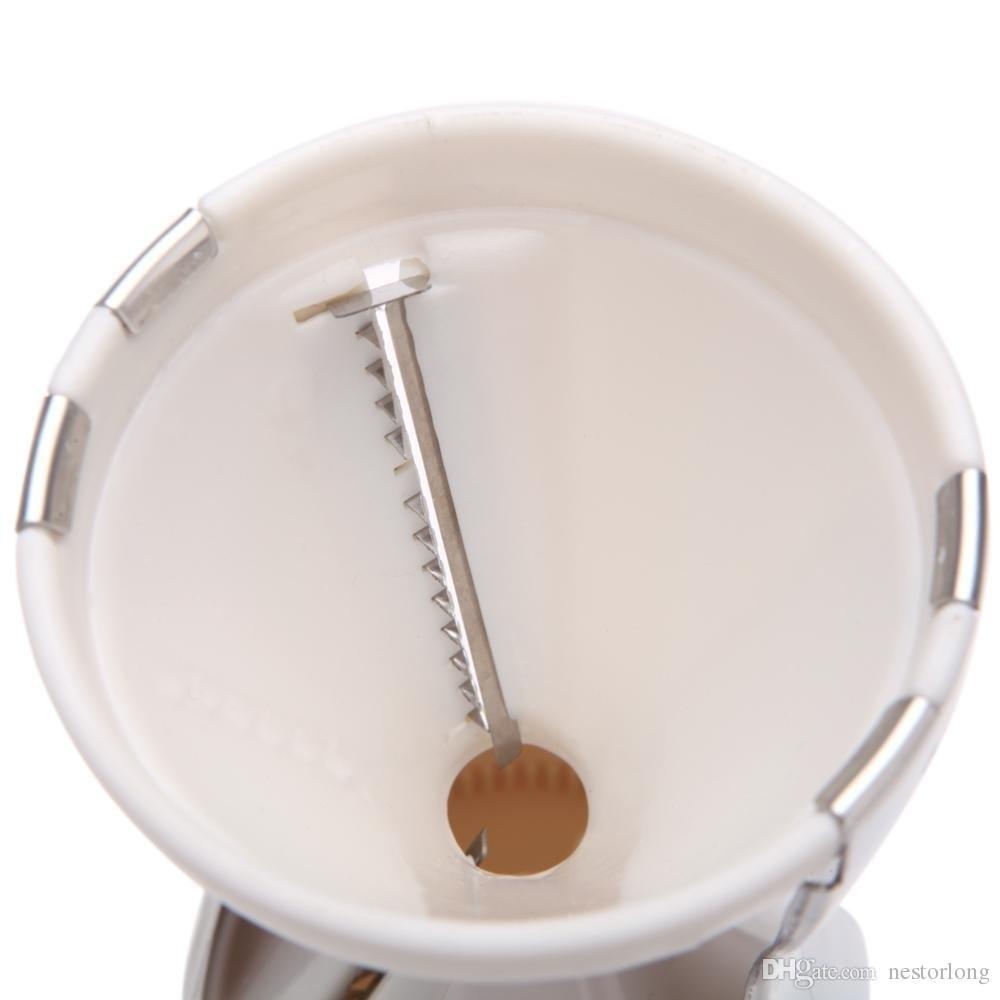2017 Nuevas herramientas de cocina de cocina Spiral Vegetable slicer grater Cutter embudo Shred Veggie Spaghetti twister rotary gadgets de cocina