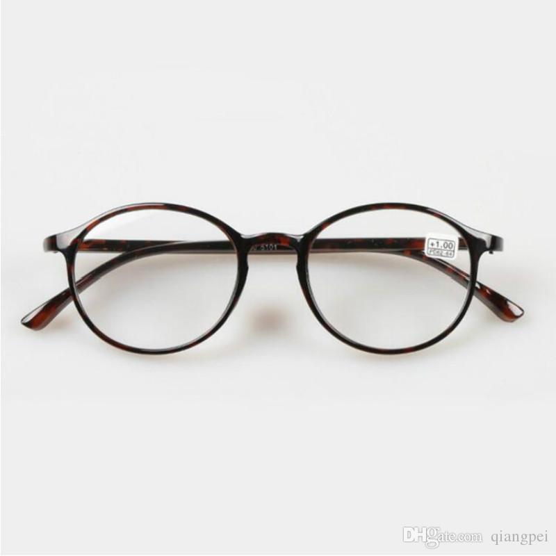 a9e7507723 Compre TR90 Women Men Round Black Leopard Presbyopia Strength 1.0 1.5 2.0  2.5 3.0 Gafas De Lectura Para Anteojos A $8.7 Del Qiangpei | DHgate.Com
