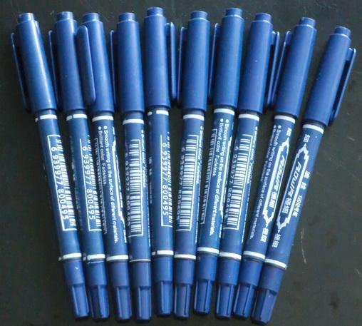 10ピース青いタトゥーペンタトゥースキンマーカーマーキングスクライブペン罰金登録チップ