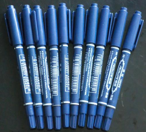 Blue Tattoo Pen Tattoo Skin Marker Marking Scribe Pen Fine & Reg Tip
