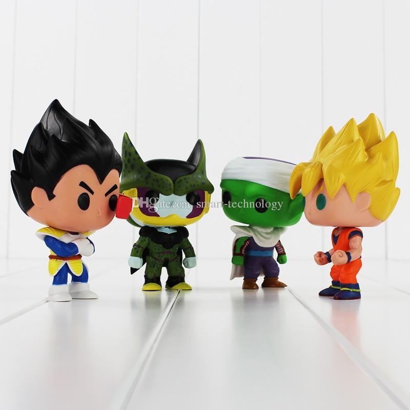 FUNKO POP Dragon Ball Z Goku Vegeta Piccolo celular Ação PVC Figura Collectible Modelo Toy Retail