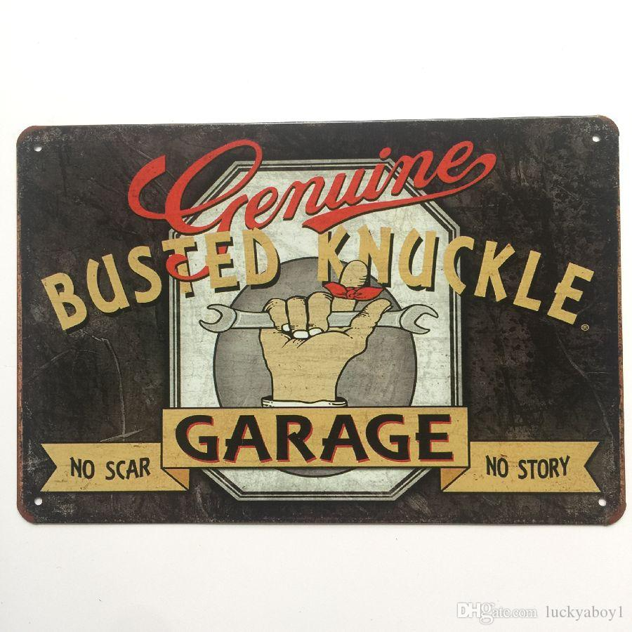 Garage Glimore Gasoline Toilet Rules Gas Oil Retro rustic tin metal sign Wall Decor Vintage Tin Poster Cafe Shop Bar home decor