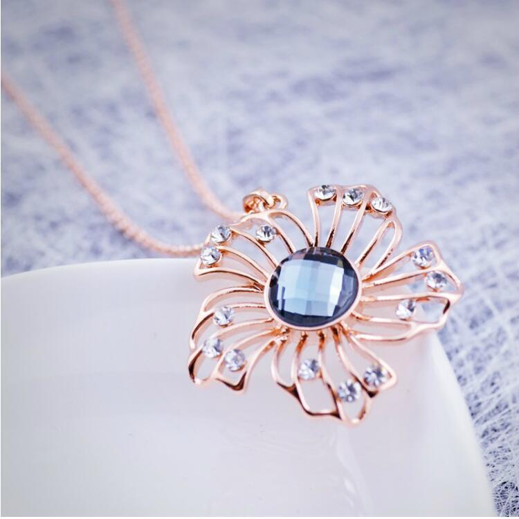 Flower Alloy Jewelry Sets Top Quality Retro Long Model Necklace Earrings Sets High Grade Fashion Jewelry Sets 2016067