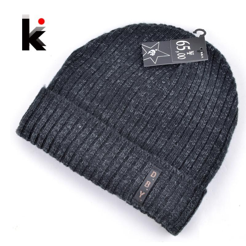 2daaec37ca4 2017 Mens Designer Hats Bonnet Winter Beanie Knitted Wool Hat Plus Velvet  Cap Skullies Thicker Mask Fringe Beanies For Men Ski Hats Newborn Hats From  ...