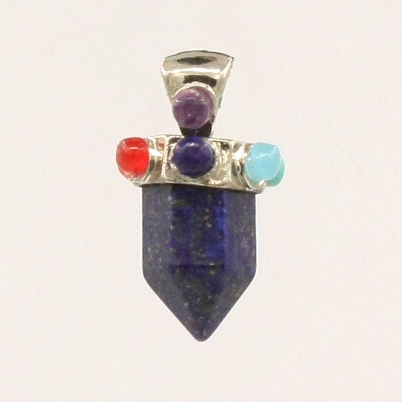 7 Chakra Perle Pietre Punto Stubby Ciondolo Donne Ankh Yoga Cristalli Reiki Amuleto Healing Balancing Pendant Holistic Prodotti la cura della salute
