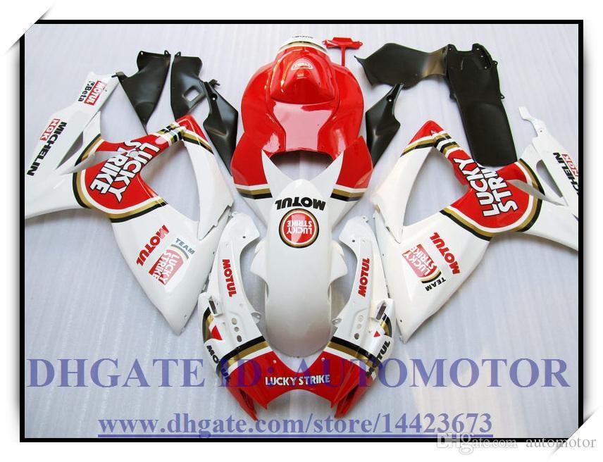 High quality 100% brand new fairing kit fit for Suzuki GSXR600/750 K6 2006 2007 GSXR 600 GSXR 750 06-07 #SB725 WHITE RED