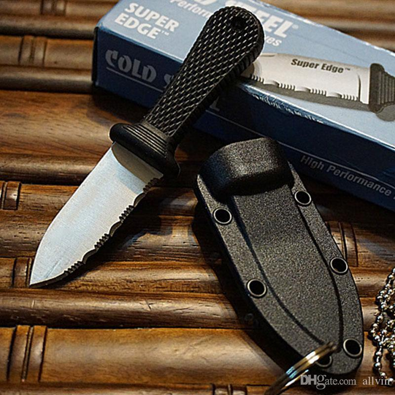 Top quality Cold Steel Super Edge Knife - 42SS - includes Rugged Survival Secure-Ex Sheath with Original paper box package