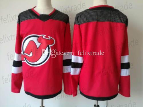 2017-18 Season New Men's 30 Martin Brodeur Blank New Jersey Devils Home Hockey Jerseys Cheap Red
