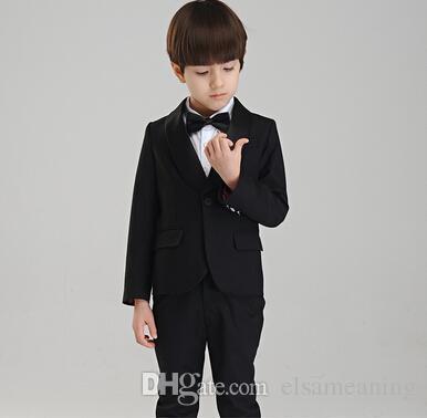 Ropa formal de los muchachos para el banquete de boda Trajes de negocios Trajes Ropa de niños Conjuntos Gentleman Traje de dos piezas para niños grandes chaqueta + pantalones