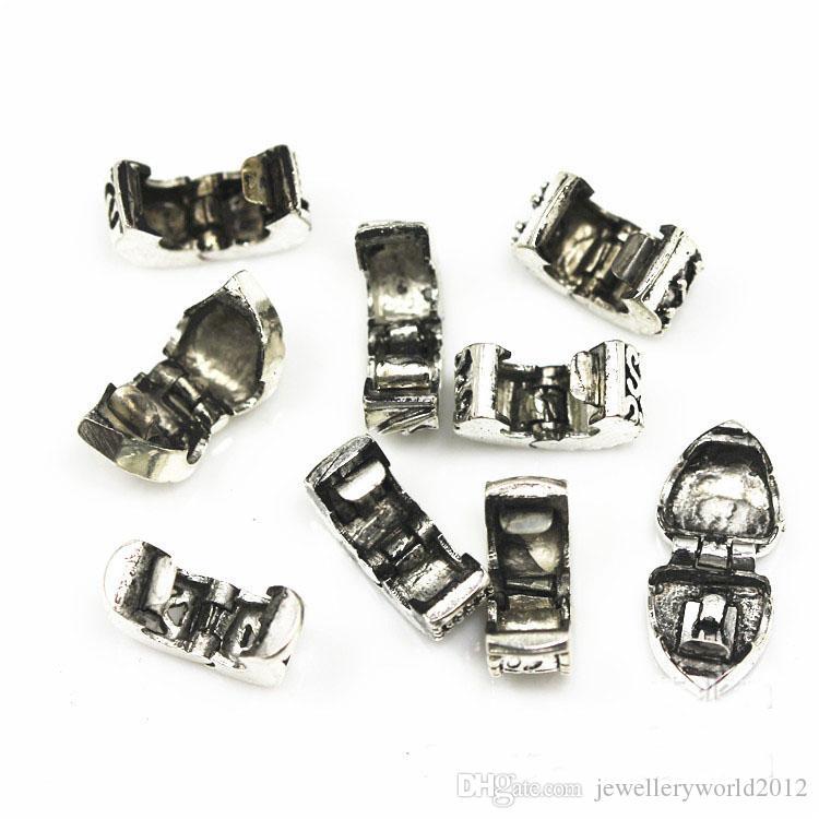 DIY tibetische Silber überzogene Stopperperlen passten Armbandhalskette Kette /