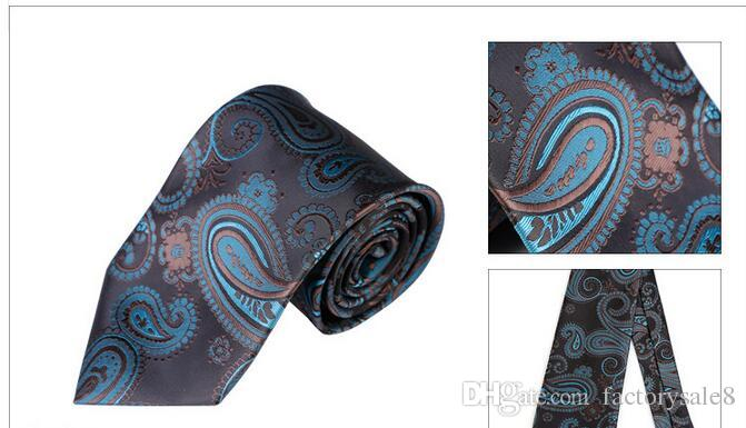 High Quality Paisley Silk Mens Tie Casual Suit Silk Ties Floral Gravata for Mens Vestidos Business & Bridegroom Neck Ties For Men