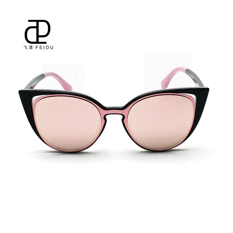 d834258248 FEIDU Fashion Sexy Cat Eye Sunglasses Women Brand Designer Vintage ...
