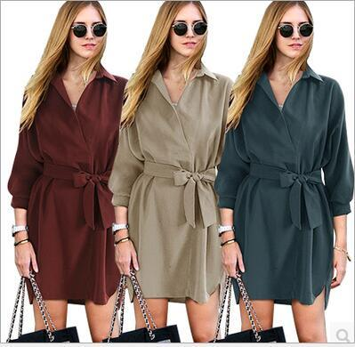 Dresses Plus Size Fashion Dress Casual Long Sleeve Dress Women