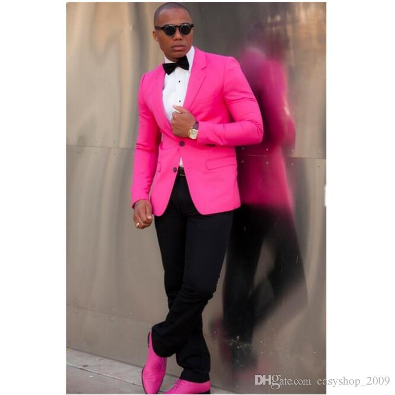 Mens Suits Slim Fit Peaked Lapel Tuxedos Wedding Suits For Men 2017 Groomsmen Suits Two Button Mens Suit Jacket+Pants