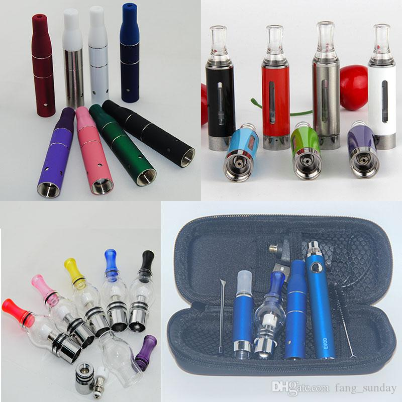 Wholesale Vape AGO G5 Tank Dry Herbal Vaporizer MT3 eGo Clearomizer Wax Glass Globe Atomizer 3 in 1 E Cigarette