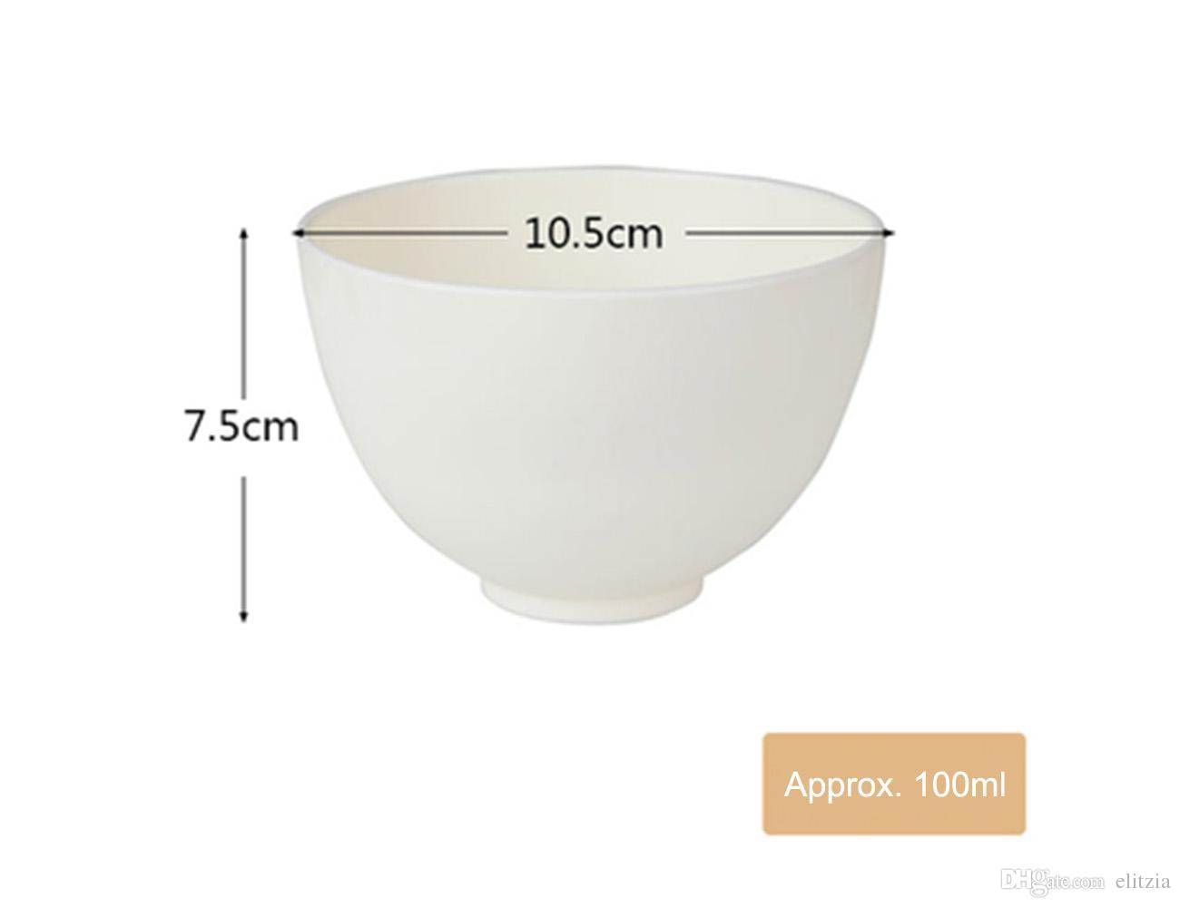 Elitzia ETBWP001 Маска инструменты силиконовые мягкая маска чаша отрегулировать фильм чаша набор салон красоты мягкая пленка порошок необходимые принадлежности белый цвет 4 Размер