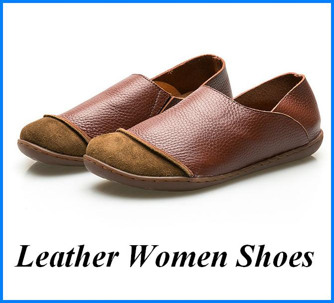 Women Shoes Genuine Leather Loafers Vintage Shoes Casual Loafer Breathable Genuine Designer Shoes Soft Comfortable Brown Gray shoe003 buy cheap extremely cUZIjfSe