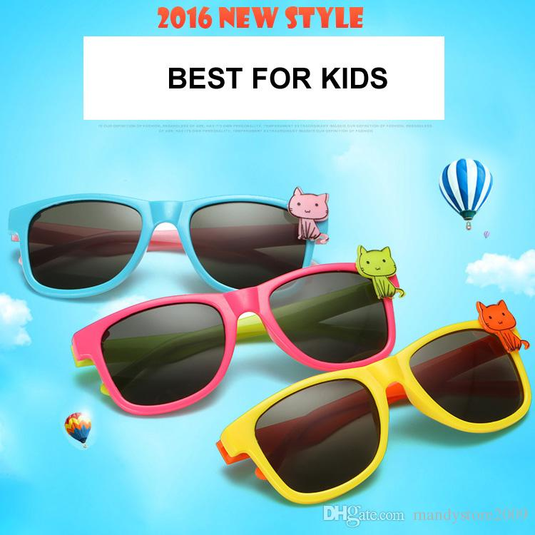 c7b0b49677 2016 New Style Kids Sunglasses Cute Cartoon Cat Sunglasses Rectangle Kids  Eye Protector Goggles For Girls Boys Suncloud Sunglasses Foster Grant  Sunglasses ...