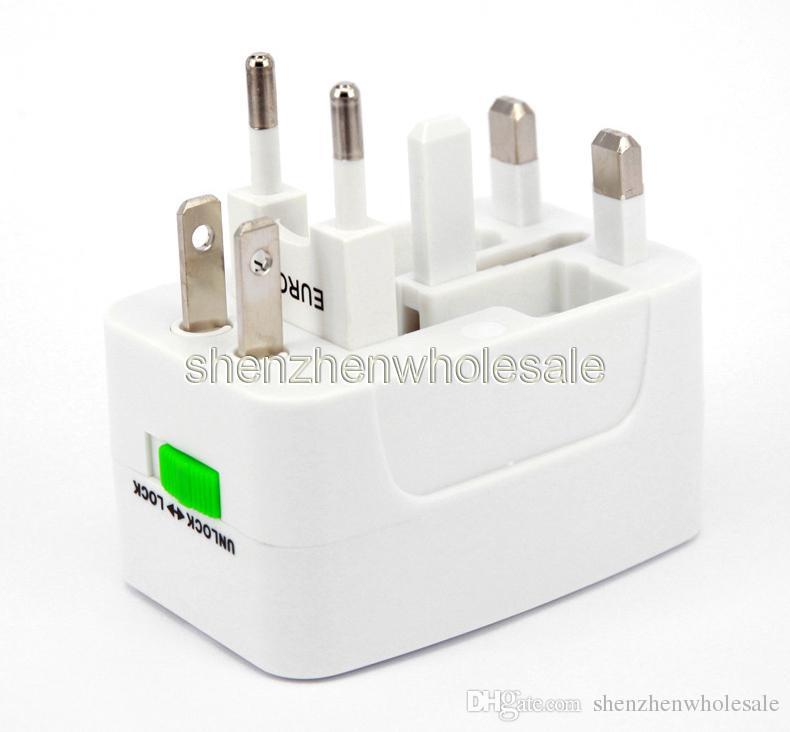 Adattatore di alimentazione caricabatterie da muro universale da viaggio spina Surge Protector Spina di adattatore di alimentazione da viaggio universale internazionale US UK EU AU AC Plug