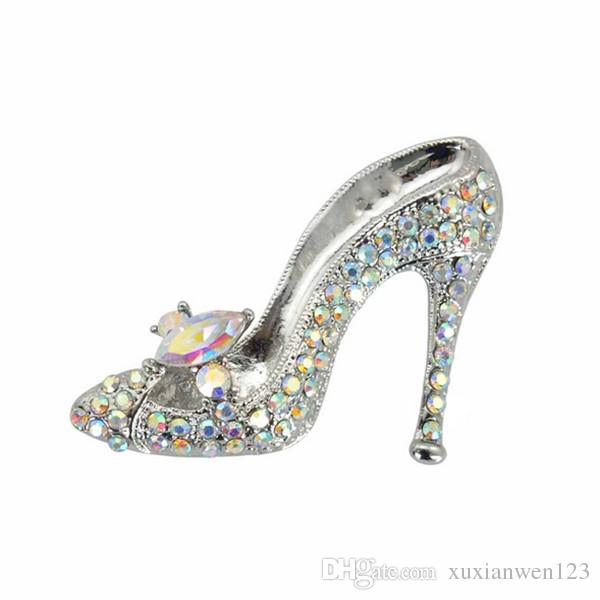 2016 Korea New Listing Fashion Delicate rhinestone shoe Brooch For Jewelry Wholesale Pins brooch
