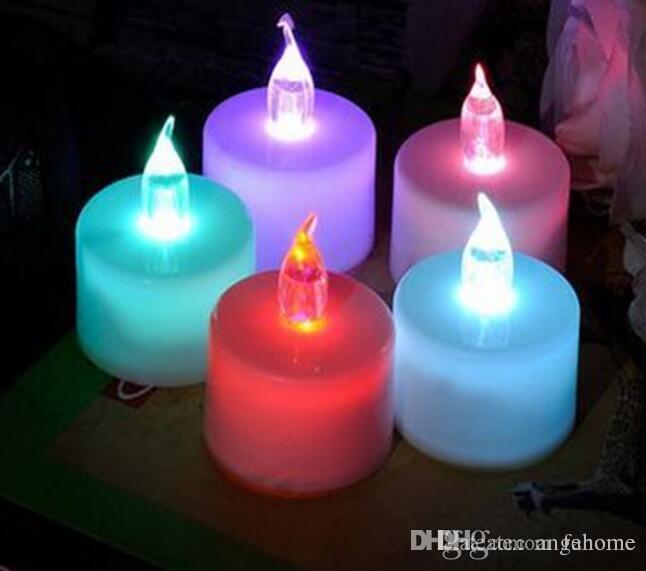 Vente Bougie Led Chaude Flamme Coloré De Lampe Mariage Clignotant Lumières Décor Bougies Sans Lumière Électronique I9EDH2