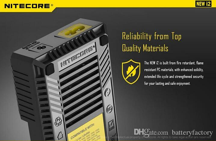 2016 기존 NEW NITECORE i2 Intellicharger 충전기, 리튬 이온 Ni-MH 18650 14500, 차량용 충전기와 Nitecore I2 I4 UM10 충전기 무료 배송