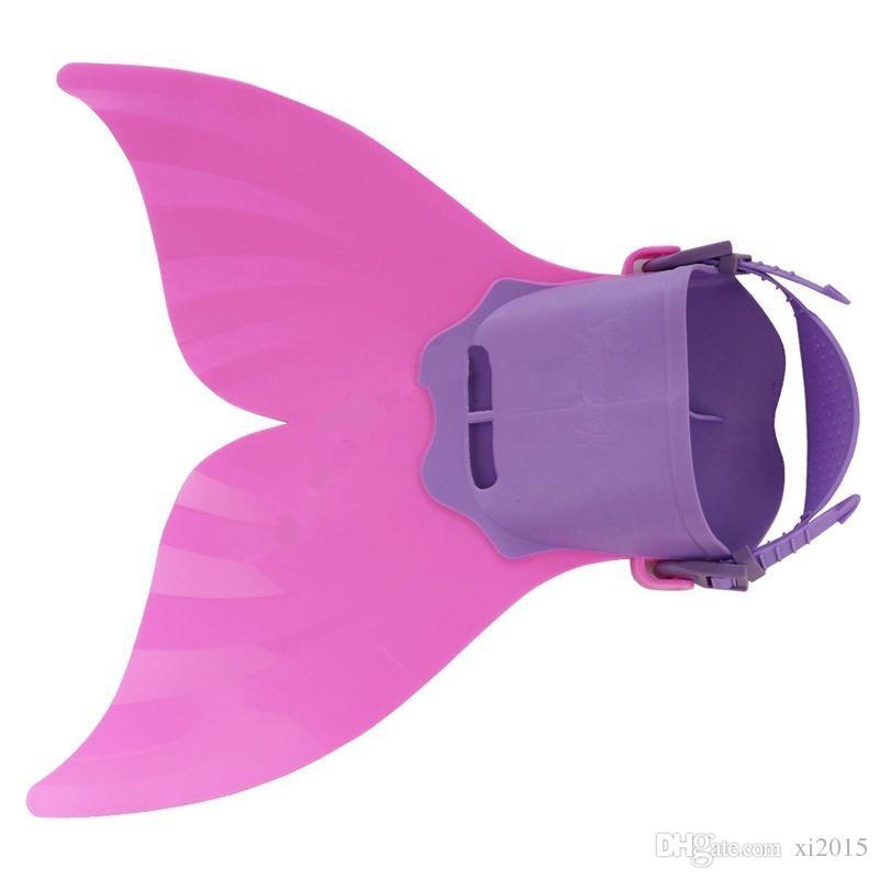 Adjustable Wave Fins Kid Free Swimming Fins Training Flipper Mermaid Kel Shoes Tail Diving Scuba Snornt Feet Tail Monofin