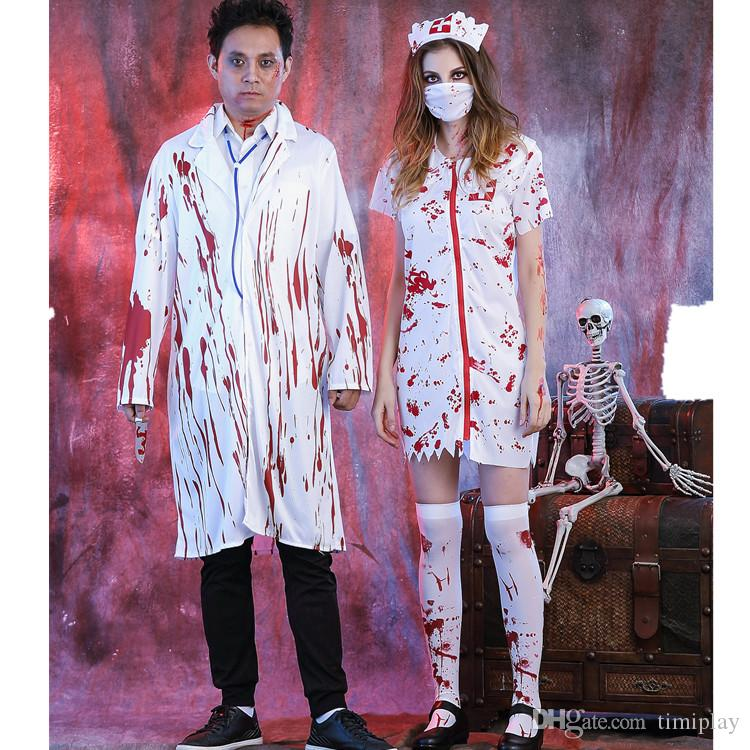 aaf4e34f952af Halloween Costumes Female Stage Costumes Terrible Masquerade Zombie Uniform  Doctors And Nurses V&ire Clothing Men And Women V&ire Halloween Costumes .