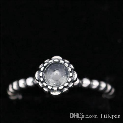Charm Ring Size Marked 12 Months Birthday Gifts Solid 925 Sterling Silver European Style Jewelry Findings For Pandora