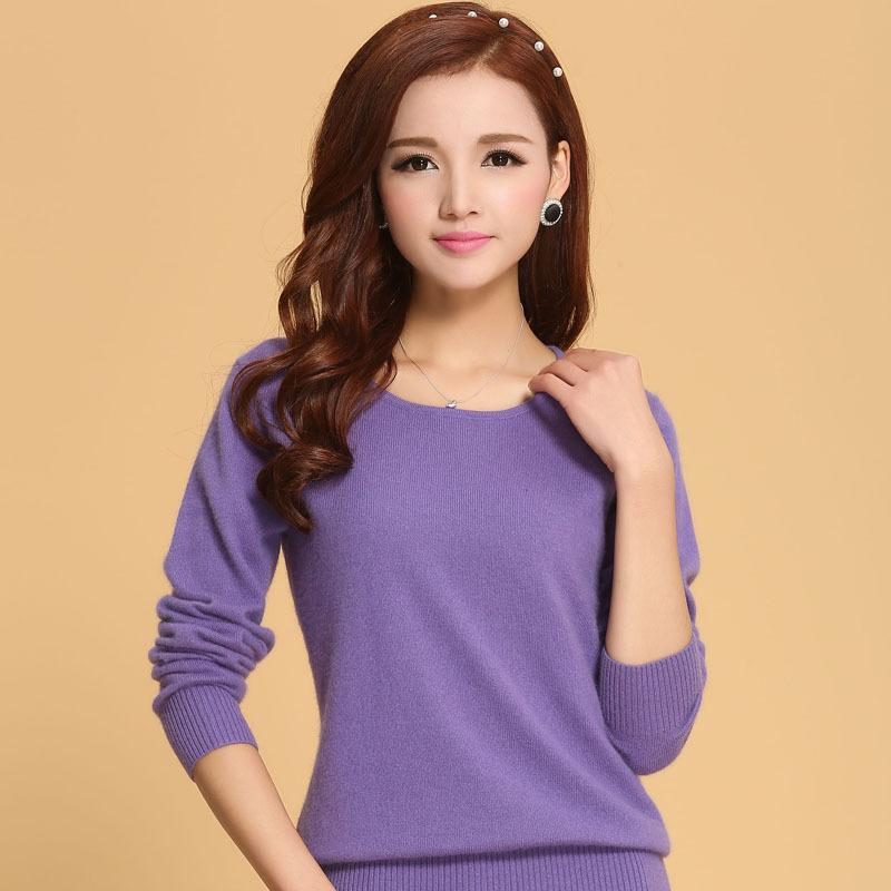 0adeefbecb 2019 Wholesale Women Sweater 100% Pure Cashmere Knitted Sweater Winter O  Neck Warm Sweaters For Ladies Pullvoer Hot Sale Goat Cashmere Clothes From  Oott