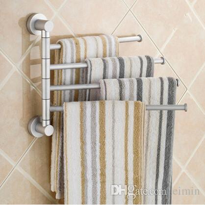 2019 aluminium towel rack swivel bars rotary bar wall mounted bath rh dhgate com