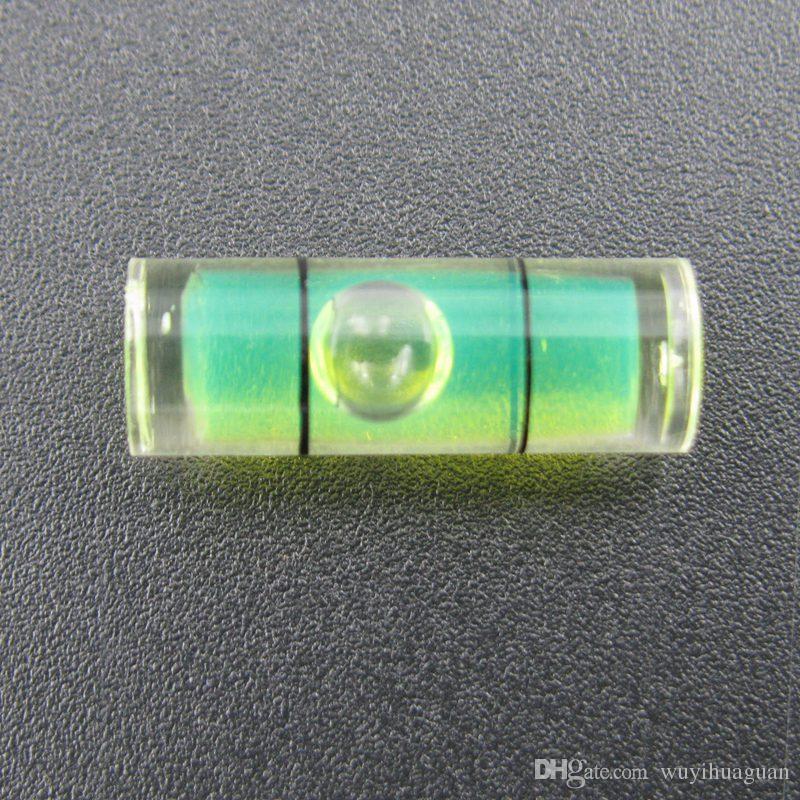 Haccury 25 peças / lote 6,5 * 18 mm de nível de tubo de plástico Bolha de nível de bolha