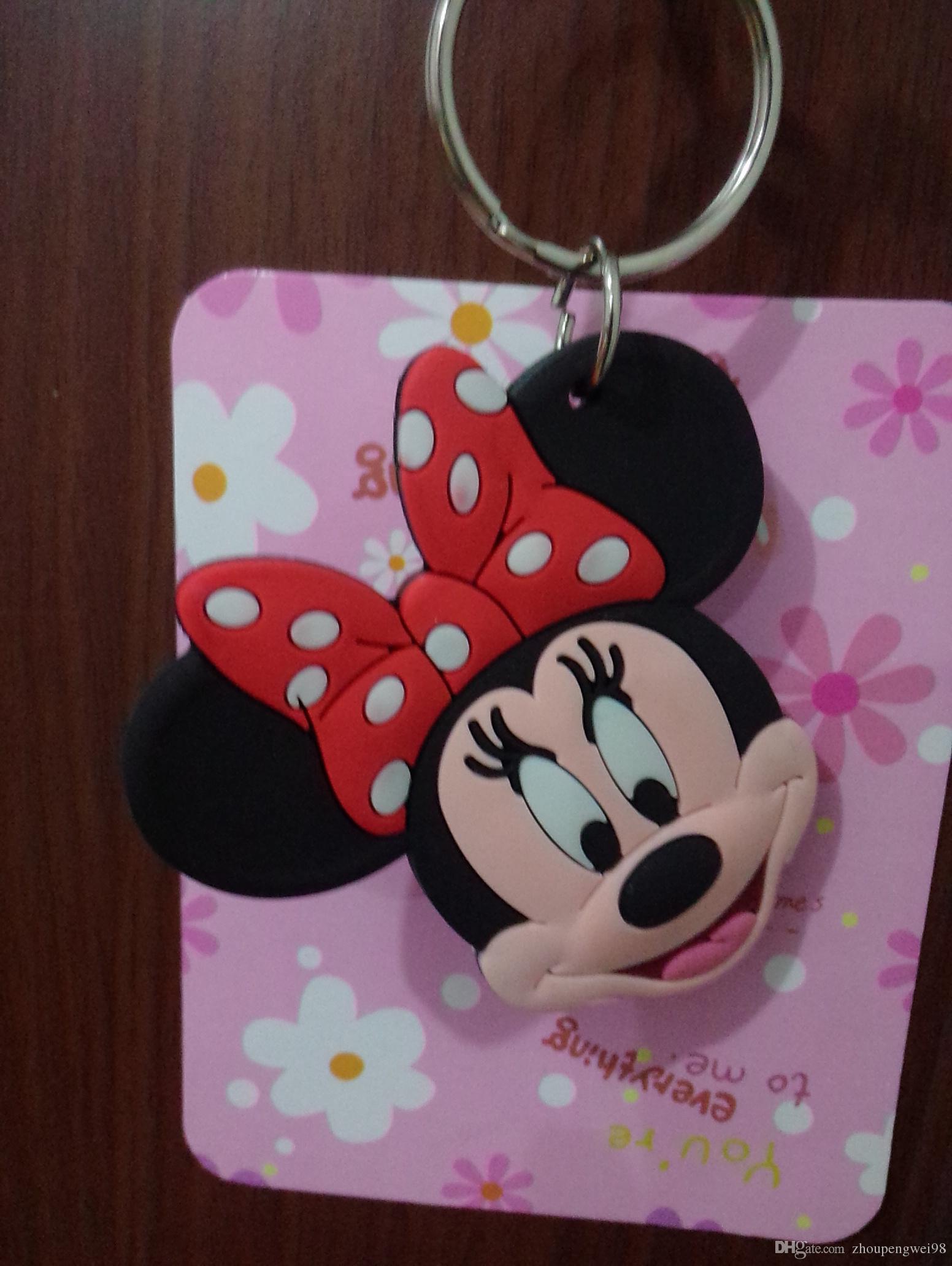 Großhandel Mickey Mouse Schlüssel Und Schlüsselring Kette Niedlichen ...